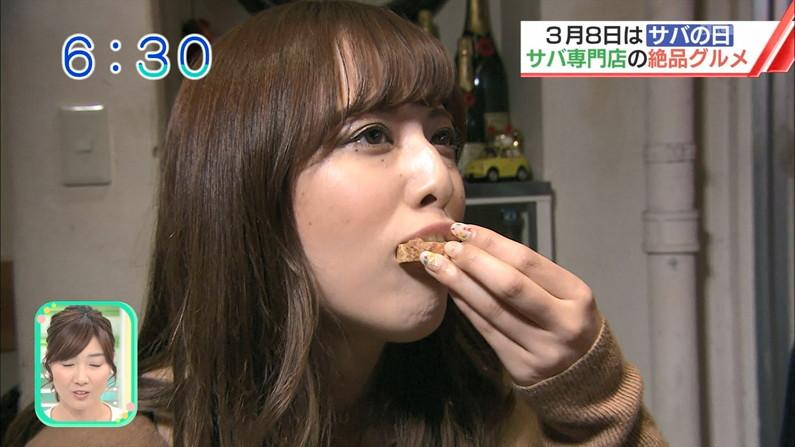 【疑似フェラキャプ画像】食レポで見せるタレント達の卑猥なエロ顔www 03