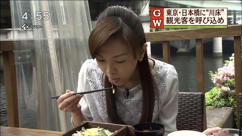 【疑似フェラキャプ画像】食レポで見せるタレント達の卑猥なエロ顔www 20