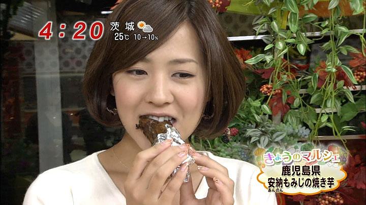 【疑似フェラキャプ画像】今日も女子アナ達はエロい顔しながら食レポ頑張ってますww
