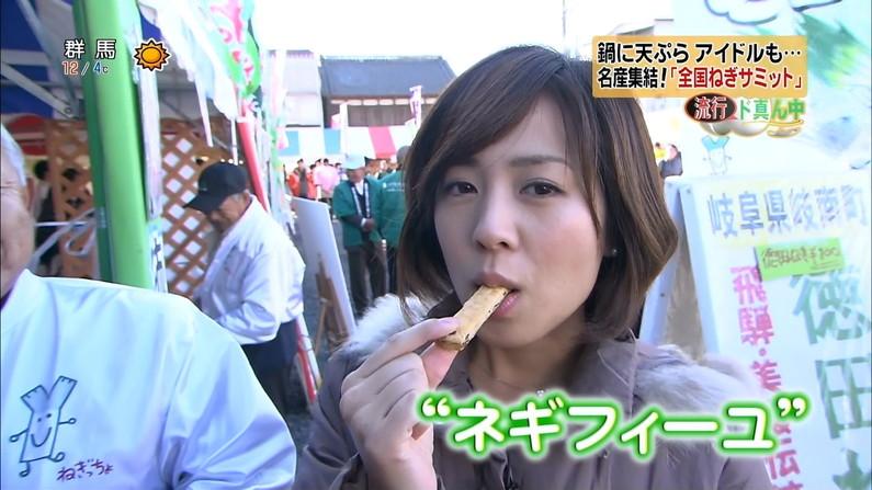 【疑似フェラキャプ画像】今日も女子アナ達はエロい顔しながら食レポ頑張ってますww 04