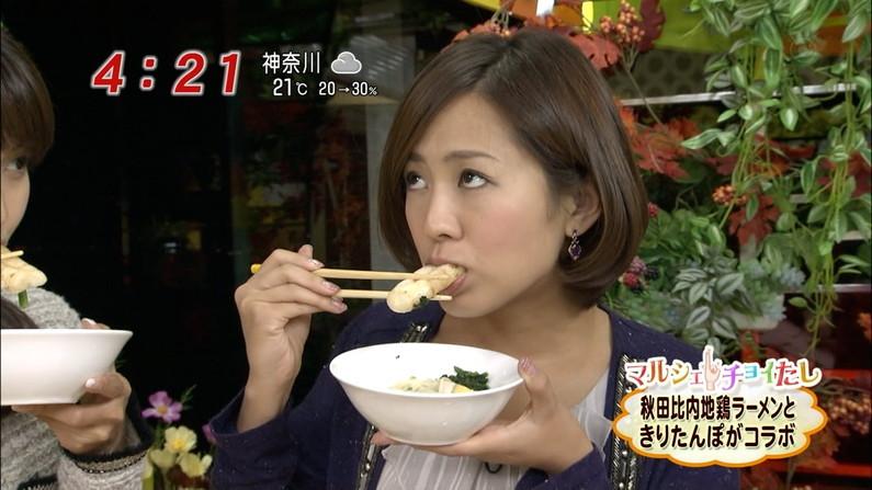 【疑似フェラキャプ画像】今日も女子アナ達はエロい顔しながら食レポ頑張ってますww 06
