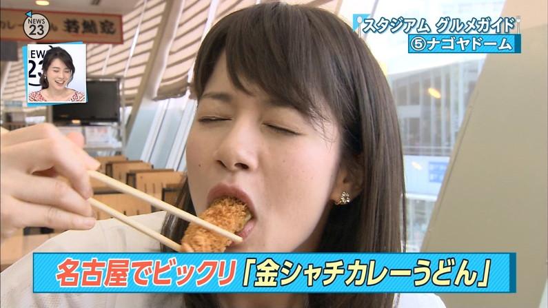 【疑似フェラキャプ画像】今日も女子アナ達はエロい顔しながら食レポ頑張ってますww 24
