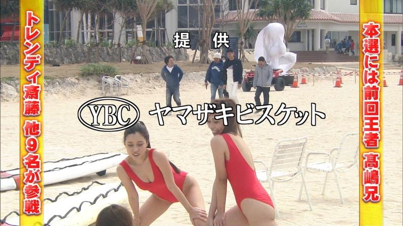 【水着キャプ画像】テレビに出てる水着姿の美女達のオッパイって見てるだけで癒されるなw 11