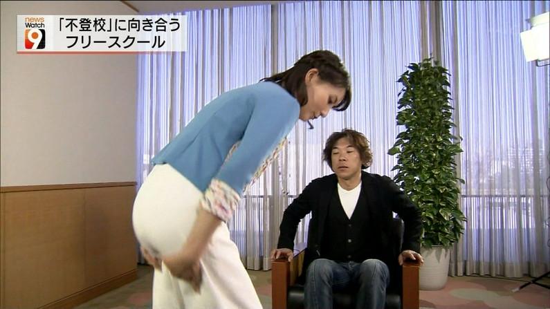 【お尻キャプ画像】女子アナ達のエロいヒップラインがたまらんww 07