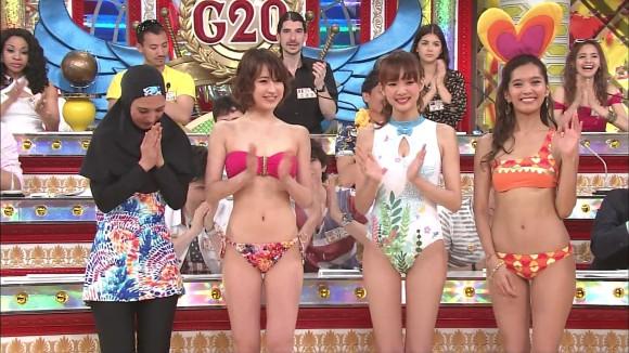 【水着キャプ画像】水着モデルとして出てくる女の子もいい体してるよなw 18