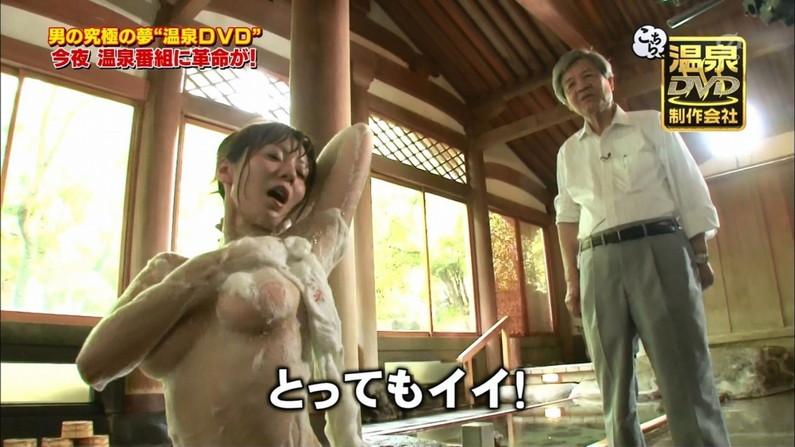 【温泉キャプ画像】オッパイしか目に入ってこないタレント達の温泉レポw 08