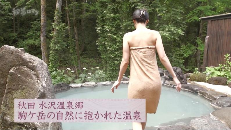 【温泉キャプ画像】オッパイしか目に入ってこないタレント達の温泉レポw 14