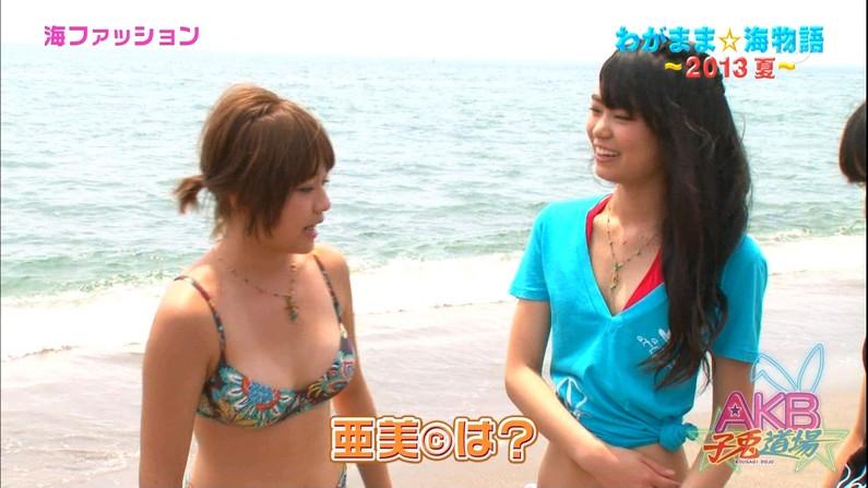 【水着キャプ画像】ポロリしそうで中々ポロリしてくれないタレント達の水着姿w 06