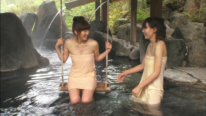 【温泉キャプ画像】ポロリチラリが一番期待度高まる温泉レポw 21