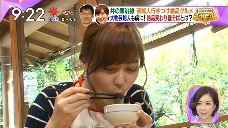 【疑似フェラキャプ画像】食レポの時大きなお口開けてフェラ顔なっちゃうタレント達ww