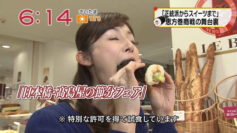 【疑似フェラキャプ画像】食レポの時大きなお口開けてフェラ顔なっちゃうタレント達ww 07