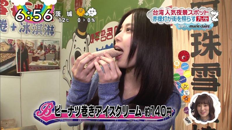 【疑似フェラキャプ画像】食レポの時大きなお口開けてフェラ顔なっちゃうタレント達ww 10