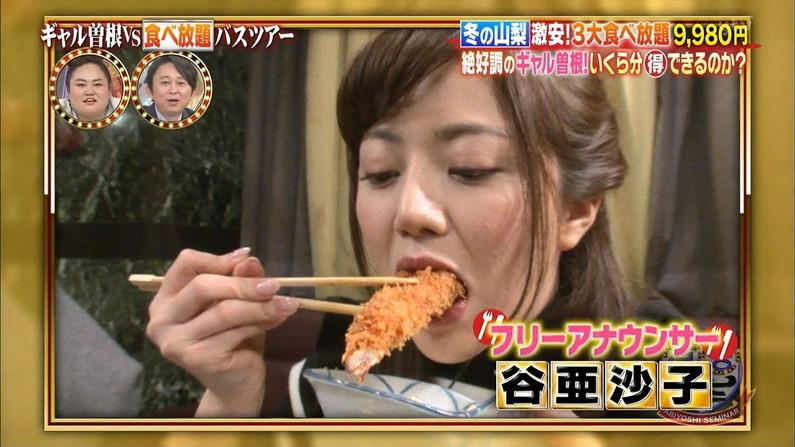 【疑似フェラキャプ画像】食レポの時大きなお口開けてフェラ顔なっちゃうタレント達ww 14