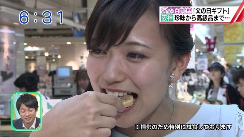 【疑似フェラキャプ画像】食レポの時大きなお口開けてフェラ顔なっちゃうタレント達ww 17