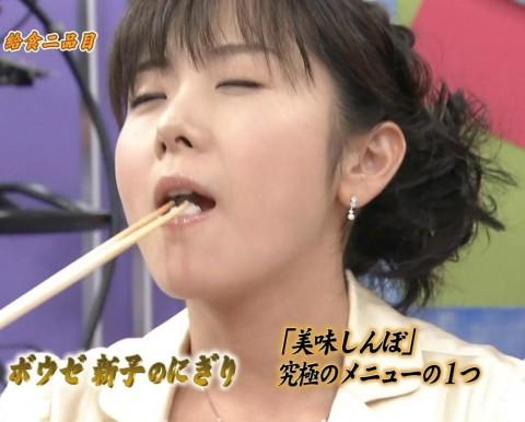 【疑似フェラキャプ画像】食レポの時大きなお口開けてフェラ顔なっちゃうタレント達ww 19