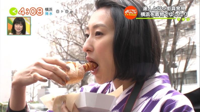 【疑似フェラキャプ画像】真剣に食レポやってるからこそエロく見えちゃうタレント達のフェラ顔w 19