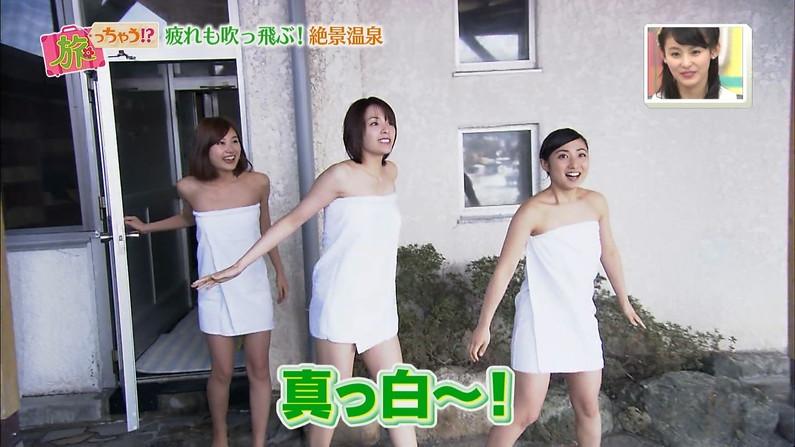 【温泉キャプ画像】ポロリの期待値高まる巨乳タレントの温泉レポww 08