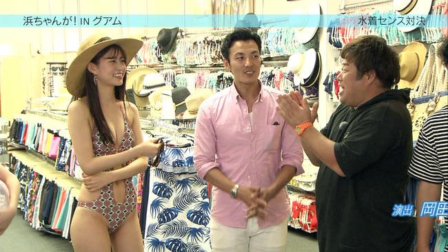 【水着キャプ画像】テレビなのにポロリもかえりみず水着から乳房はみ出しまくってるタレント達w 06