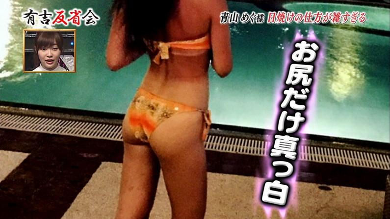 【お尻キャプ画像】テレビなのに思いっきりパンツや水着からハミ尻してるタレント達w 21