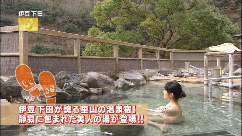 【温泉キャプ画像】バスタオルからはみ出すオッパイのエロい温泉レポw 11