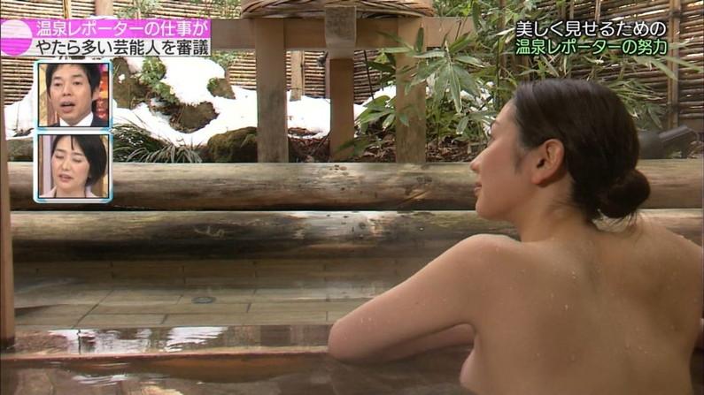 【温泉キャプ画像】バスタオルからはみ出すオッパイのエロい温泉レポw 16