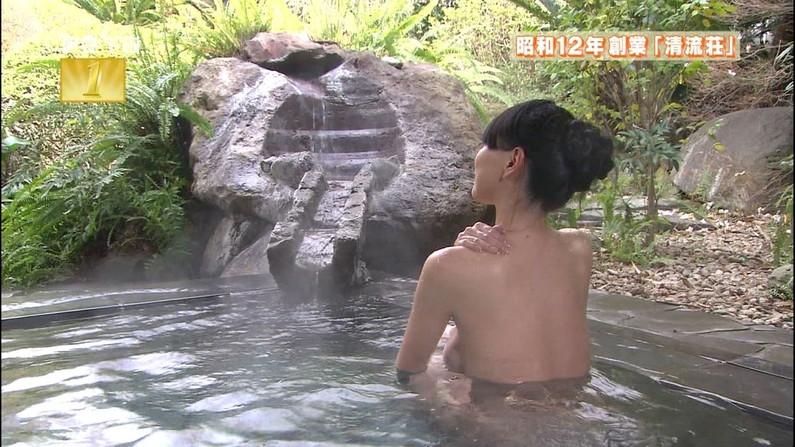 【温泉キャプ画像】バスタオルからはみ出すオッパイのエロい温泉レポw 19