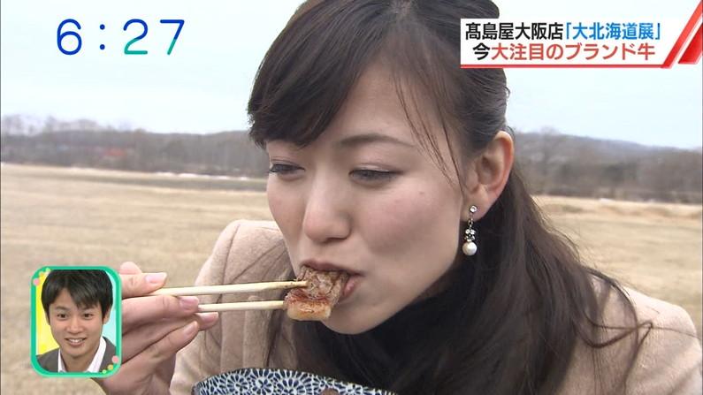 【疑似フェラキャプ画像】フェラ好きだと思われても仕方ない、タレント達のエロい食べ方ww 13