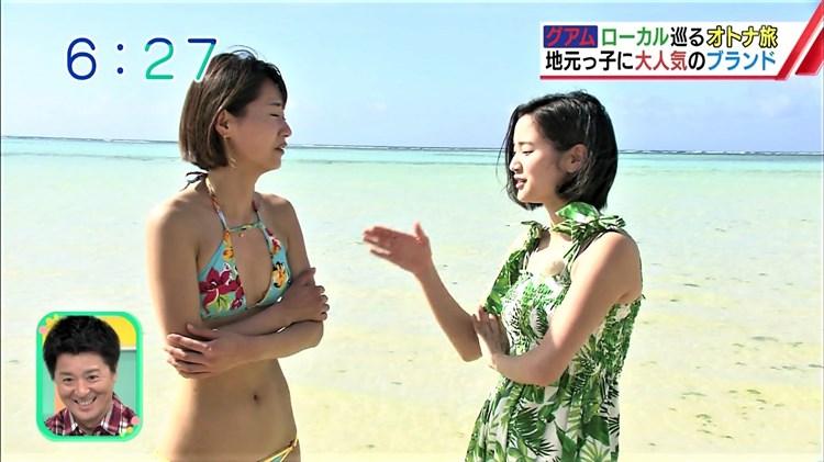 【水着キャプ画像】ナイスボディーのセクシータレントの水着姿がテレビで映りまくりw 22