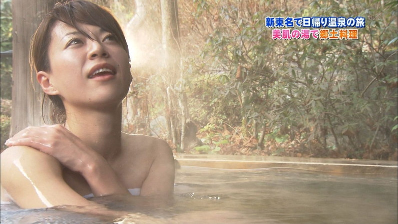 【温泉キャプ画像】温泉レポする女性タレントの姿ってやっぱエロいよなw 08