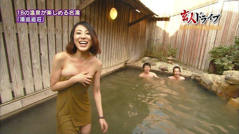 【温泉キャプ画像】温泉レポする女性タレントの姿ってやっぱエロいよなw 13
