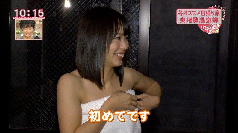 【温泉キャプ画像】温泉レポする女性タレントの姿ってやっぱエロいよなw 15