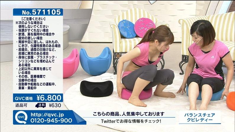 【胸ちらキャプ画像】最近のテレビではこんなにオッパイ出さないといけないのか?w 14