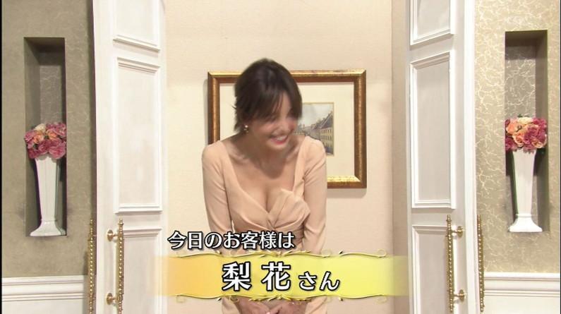【胸ちらキャプ画像】エロい谷間が気になる、テレビに映る巨乳のタレント達w 23