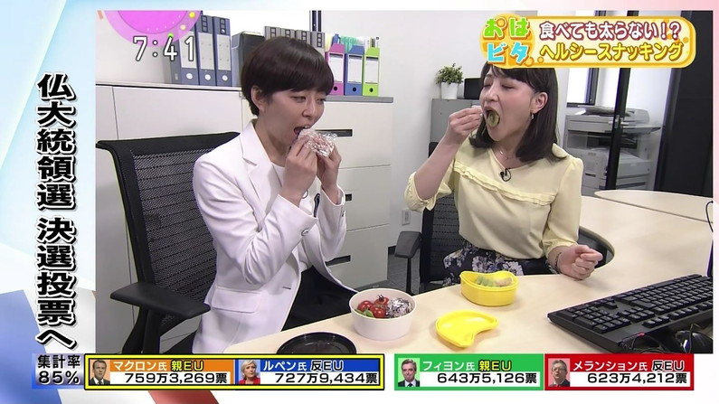 【疑似フェラキャプ画像】食レポの時になるとフェラしてる時の顔そっくりになっちゃうタレント達w 07