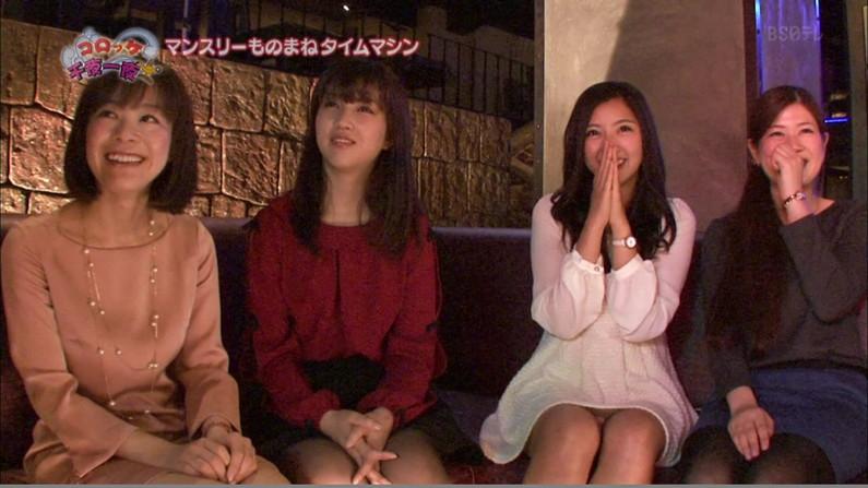 【パンチラキャプ画像】ミニスカートから見える魅惑の▼ゾーンが気になってテレビにかじりつきww 13