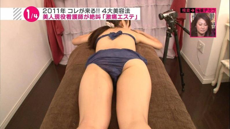 【お尻キャプ画像】テレビで水着着て出てくるタレントって大概ハミ尻しまくってるよなw 10