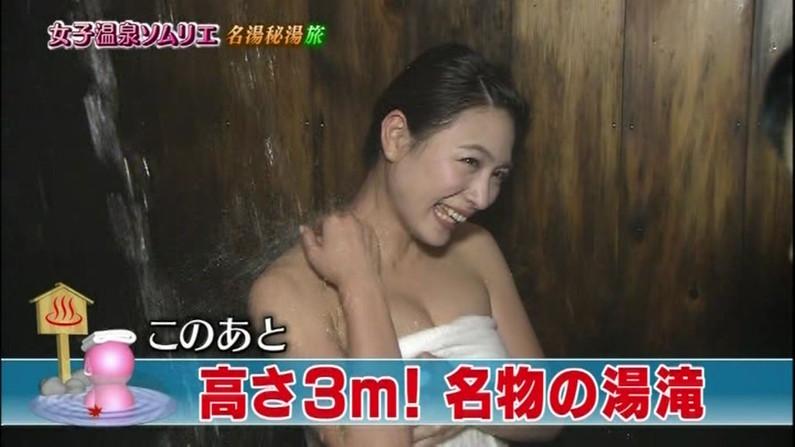 【温泉キャプ画像】美人タレントの入浴シーンなんてエロい目で見ないやついるの?ww