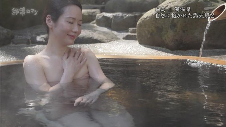 【温泉キャプ画像】美人タレントの入浴シーンなんてエロい目で見ないやついるの?ww 21