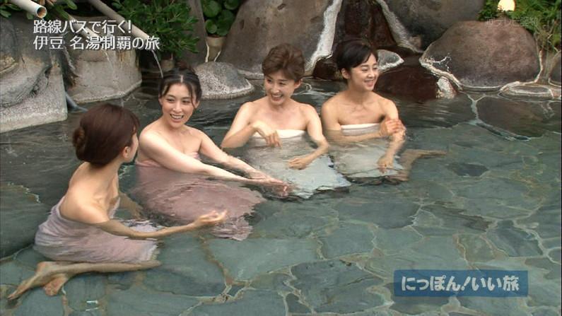 【温泉キャプ画像】美人タレントの入浴シーンなんてエロい目で見ないやついるの?ww 24