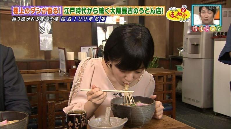 【疑似フェラキャプ画像】こんなエロい顔して食レポするからフェラが好きそうな女子アナとか言われるんだよw 12