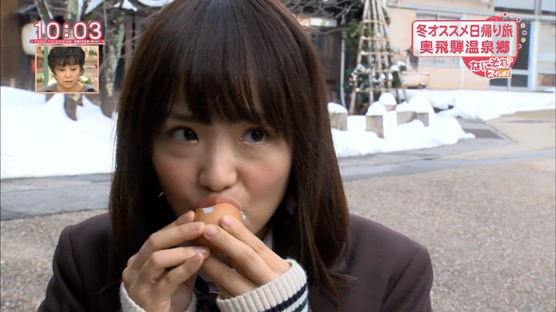 【疑似フェラキャプ画像】こんなエロい顔して食レポするからフェラが好きそうな女子アナとか言われるんだよw 13
