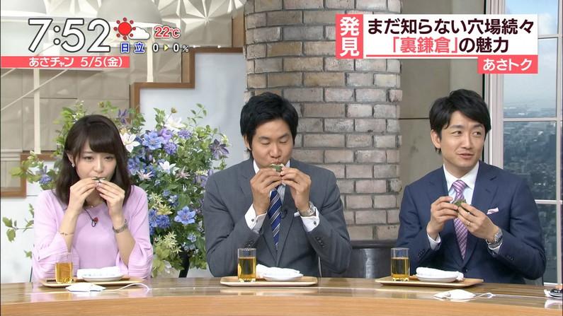 【疑似フェエラキャプ画像】女子アナ達がエロい顔を茶の間にお届けする食レポww 04