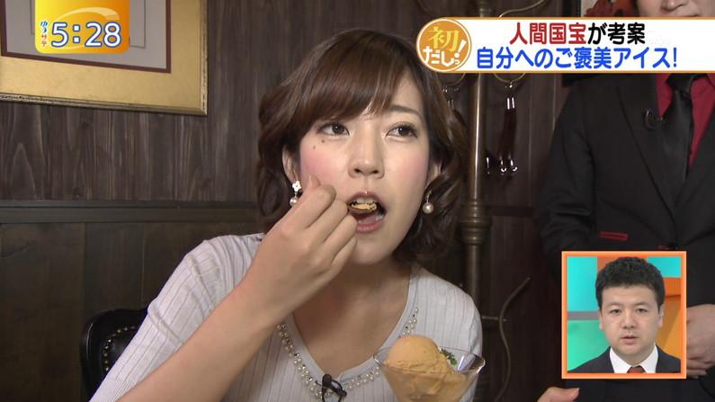 【疑似フェエラキャプ画像】女子アナ達がエロい顔を茶の間にお届けする食レポww 08