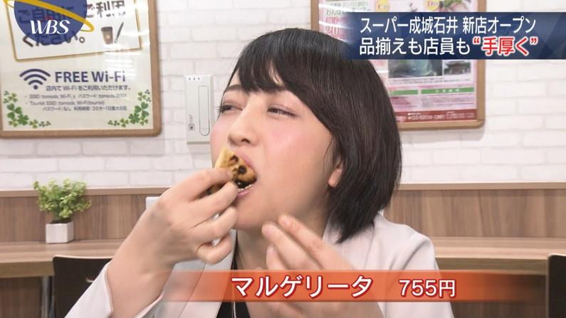 【疑似フェエラキャプ画像】女子アナ達がエロい顔を茶の間にお届けする食レポww 13