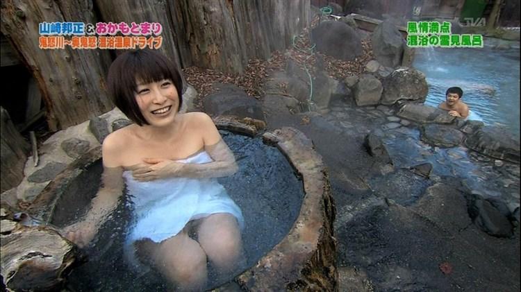 【温泉キャプ画像】温泉レポで見えてはいけないモノが見えてしまったタレント達w 13