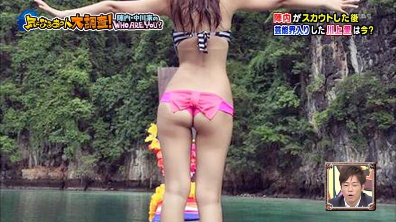 【お尻キャプ画像】美尻タレント達の水着や下着からはみ出す尻肉www 13