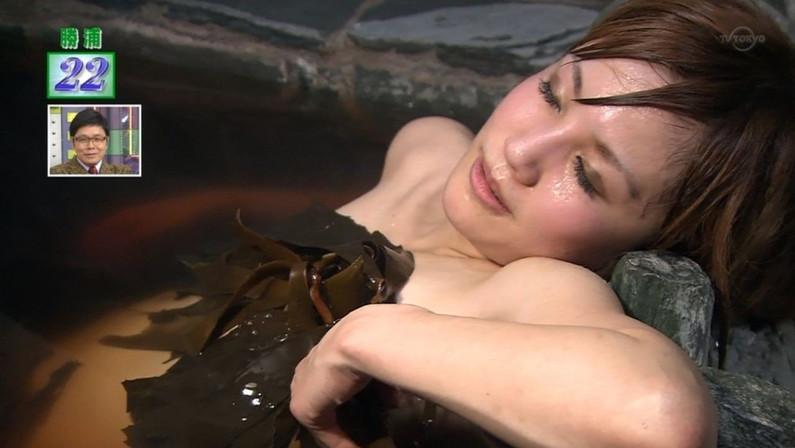 【温泉キャプ画像】ハミ乳しながら温泉番組に出て来る美女達ww