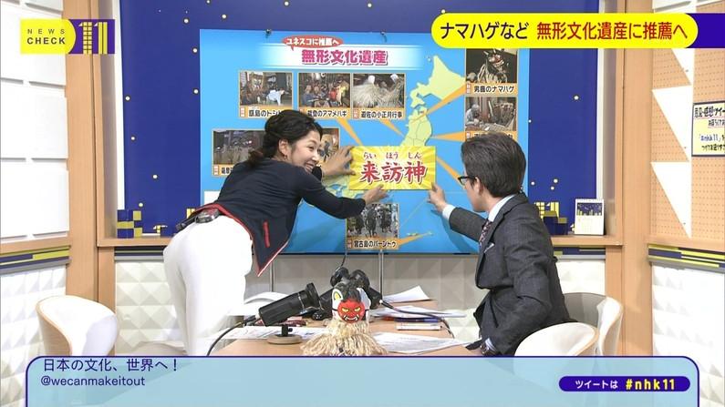 【お尻キャプ画像】テレビでパンツラインまで丸見えになっちゃってるタレント達w 12