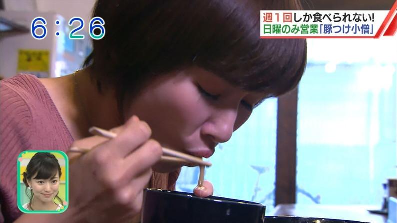 【疑似フェラキャプ画像】フェラしてる所が安易に想像できちゃう女子アナ達のエロい食レポw 12
