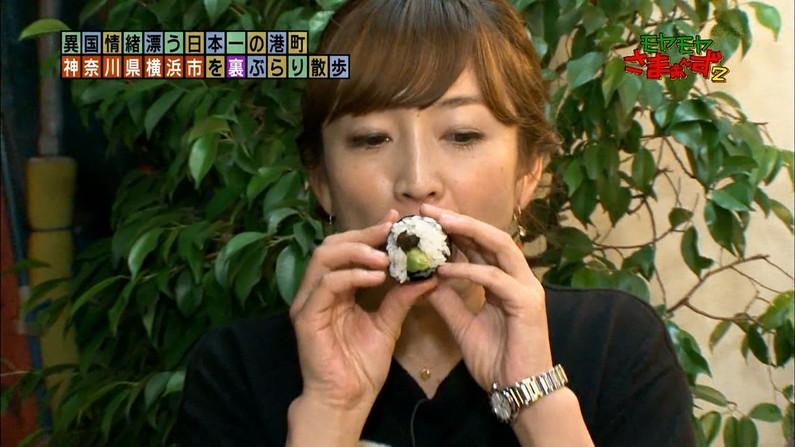 【疑似フェラキャプ画像】食レポでこんなエロい顔して視聴者の気を引こうとてるタレント達w 07